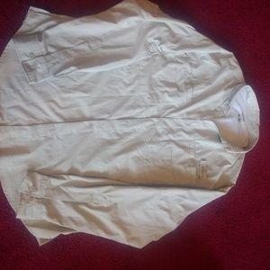 Mens Columbia Cream Lightweight Shirt Jacket Large